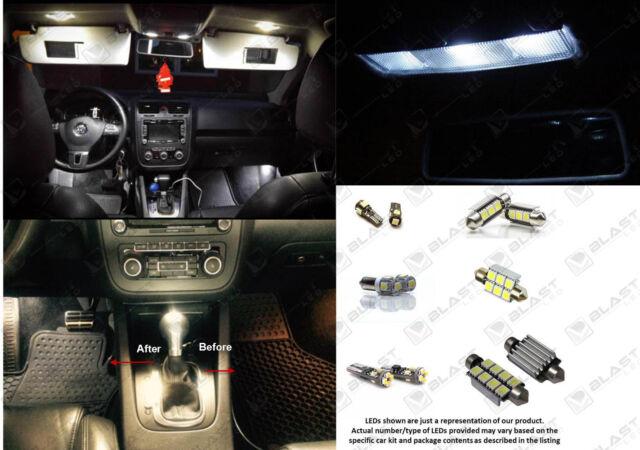 12pc LED Interior Light Kit For Volkswagen MK4 Jetta GTI GOLF License Plate LED
