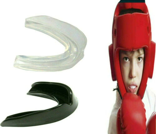 Youth Gum Shield Mouthguard Boxing Muay Thai Mouthpice Gel Teeth Protector Rugby