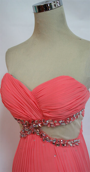 NWT ALEX & SOPKIA  CORAL Evening Prom Formal Gown 13