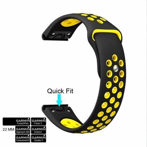 Sport Silicone Quick Install Band Easy Fit Wrist Strap For Garmin Fenix 5 5 plus
