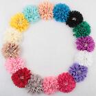 5-20PCS Satin Ribbon Peony Flower with Pearls DIY Wedding Appliques/Trim Craft