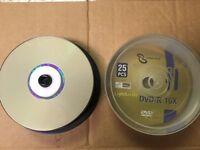 50 Pcs Sonik Data Lightscribe Dvd-r, 16x 25/cake Box