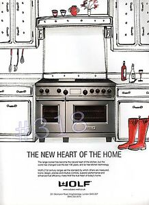 WOLF Range Cooker and CH ADVERT  2013 Advertisement - <span itemprop=availableAtOrFrom>Tyne and Wear, United Kingdom</span> - WOLF Range Cooker and CH ADVERT  2013 Advertisement - Tyne and Wear, United Kingdom