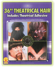 Fake BLACK Theatrical Hair Halloween Costume Stick-On Beard Wig Facial Eyebrows