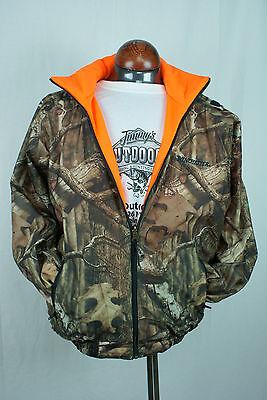 Winchester Reversible Waterproof Rain Jacket Large Camo Mossy Oak Blaze Orange