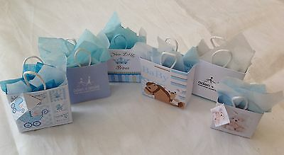 Dolls House Miniatures   Set of new baby boy gift bags