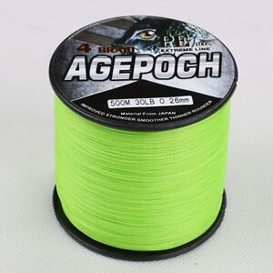 100M-1000M 6-300LB Fluorescent Yellow/Green 100%PE Dyneema Braided Fishing Line