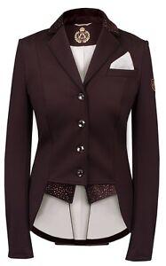 Fair-Play-Damen-Turnierjacket-Dressage-Kurzfrack-Modell-Bea-Brown-SOFORT