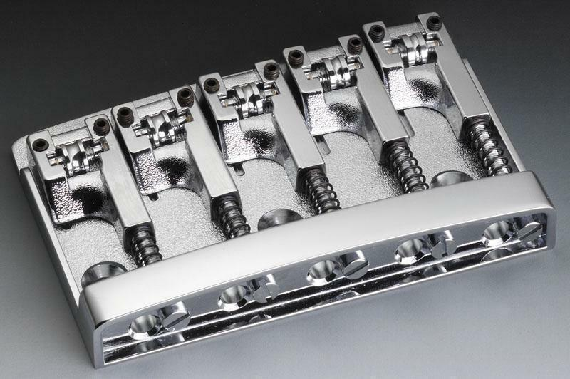 SCHALLER 3D-5 Bass Bridge per basso 5 corde chrome