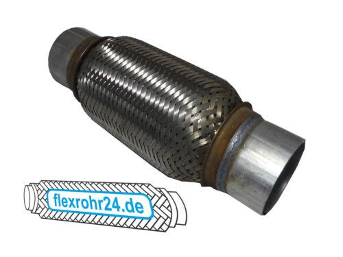 Flexrohr Flexstück flexibles Auspuff interlock 50x250//315 mm mit Anschlussrohr