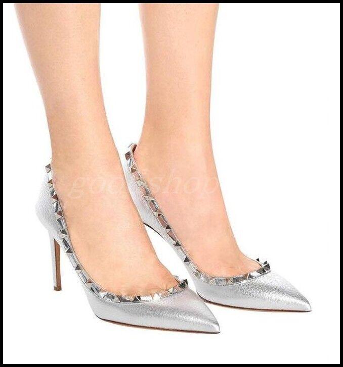 Remache occidental para mujer Puntera Puntiaguda Lentejuelas Bombas Tacones Tacones Tacones Altos Slip On Fiesta Zapatos Talla  tienda