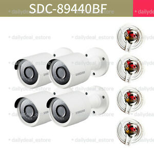 Details about [Lot of 4] NEW SAMSUNG SDC-89440BF 4MP Super HD bullet camera  (SDH-C85100BFN)