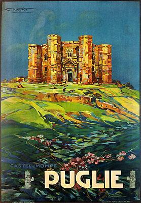 TW03 Vintage 1925 Italian Italy PUGLIE Apulia Travel Tourism Poster Re-Print A4