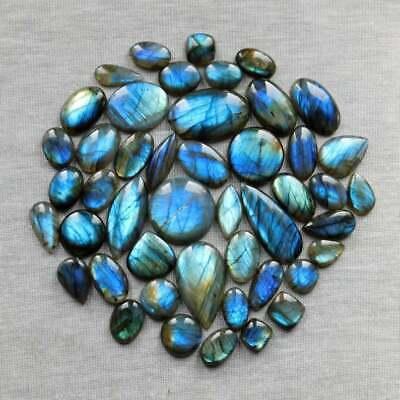 Natural Amazing Blue Labradorite Cabochon Gemstone 88.20 Cts 53x25x8mm Wholesale Price