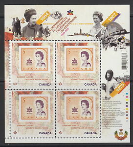 Canada-2514i-Queen-Elizabeth-II-Diamond-Jubilee-Mini-Pane-MNH