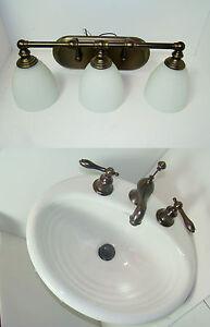 Superieur Details About KOHLER Ellington Bathroom Sink White Pegasus Bronze Faucet  Hampton Bay Light Lot
