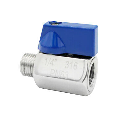 """Details about  /1//4/"""" Stainless Mini Ball Valve with Stainless Handle F x M NPT Thread SS304"""
