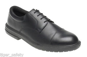 Toesavers 910 S1P SRA Black Leather Formal Steel Toe Cap Safety Work Shoes PPE