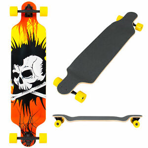 BCP-41in-Maple-Deck-Longboard-Cruiser-Skateboard-Yellow-Black