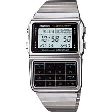 Casio Men's Data Bank Telememo Calculator Digital Silver Stop Watch DBC-611. BI