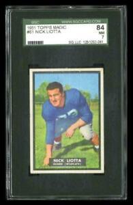 Rare 1951 Topps Magic #61 Nick Liotta Football Card SGC 84 / 7 NM