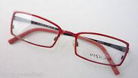 Rot-Schwarze Brillenfassung Damen Gestell schmal Metall occhiali Insight size M