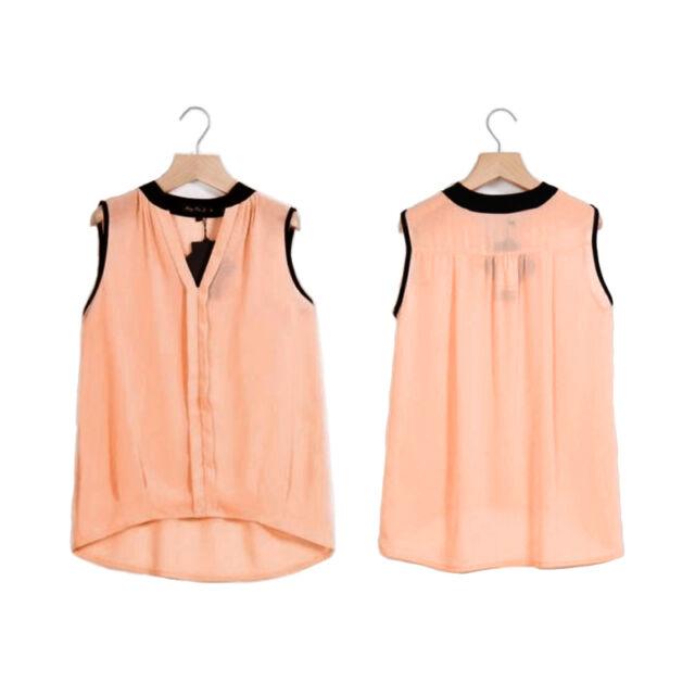 New Sexy Women Summer Loose Casual Chiffon Sleeveless Vest Shirt Top Blouse