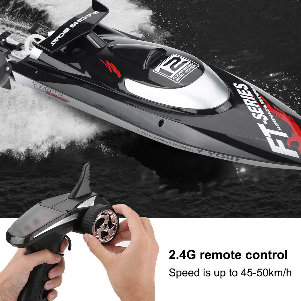FeiLun FT009 2.4G RC Boat  45km h High Speed Speedboat Water Cooling Racing Ship  Spedizione gratuita al 100%