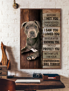 Staffordshire Bull Terrier Before I Met You Dog Lover Wall Art Poster No Frame