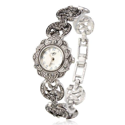 New Hot Aphrodite Women's Luxury Bracelet Wrist Watch Silver Sunflower Shaped