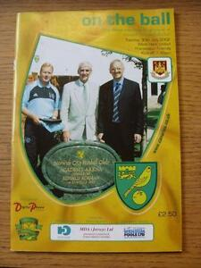 30072002 Norwich City v West Ham United Friendly - <span itemprop=availableAtOrFrom>Birmingham, United Kingdom</span> - Returns accepted within 30 days after the item is delivered, if goods not as described. Buyer assumes responibilty for return proof of postage and costs. Most purchases from business s - Birmingham, United Kingdom
