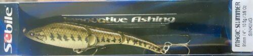 "NLB Largemouth Bass Sebile Magic Swimmer 95mm Sinking 4/"" 3//8oz Swimbait"