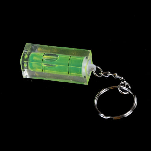 Mini Spirit Level Keyring Keychain Tool DIY Ring Gadget Novelty Gift  CL