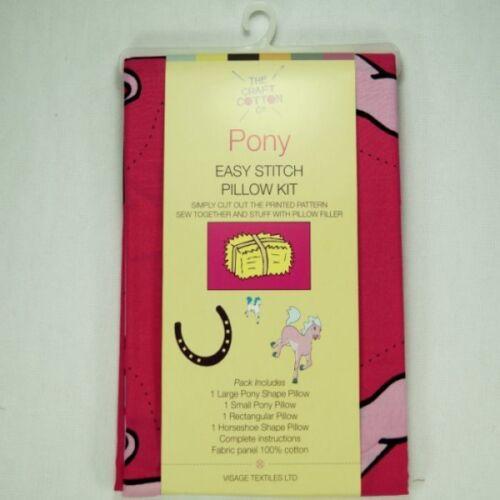 Pony Easy Stitch Almohada Kit Panel 100/% Algodón