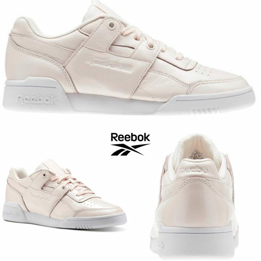 Reebok Classic Workout Lo Plus Iridescent shoes Sneakers Pink CM8951 SZ 4-12.5