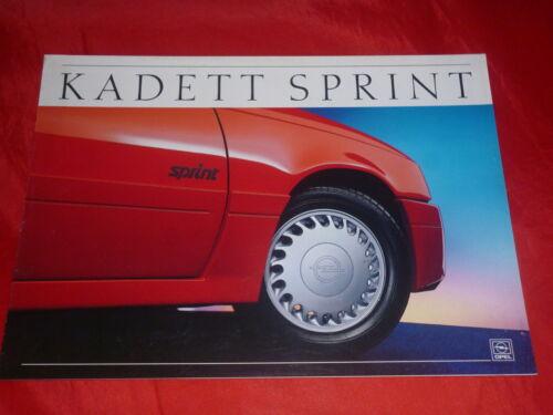 """OPEL KADETT E /""""SPRINT/"""" speciale modello prospetto brochure di 1987"""