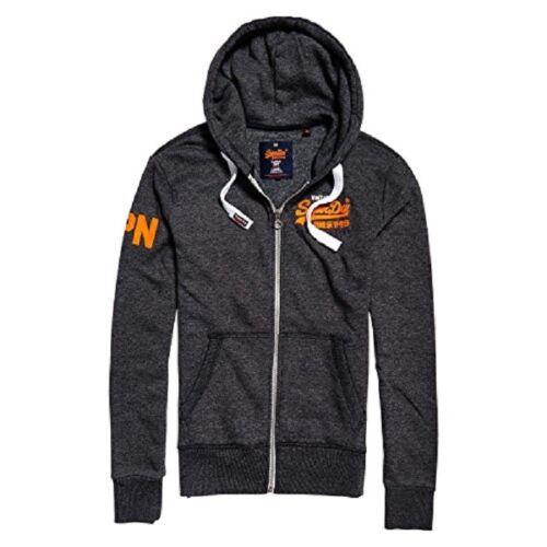 Superdry Sweat chaqueta señores Black grit hoody kapuzensweat talla s 18.0764//c6