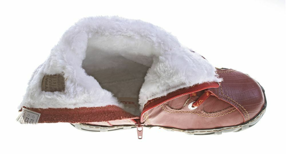 Leder Stiefeletten TMA 2013 Damen Knöchel Schuhe echt Leder Leder Leder Winter gefüttert ab8ff7
