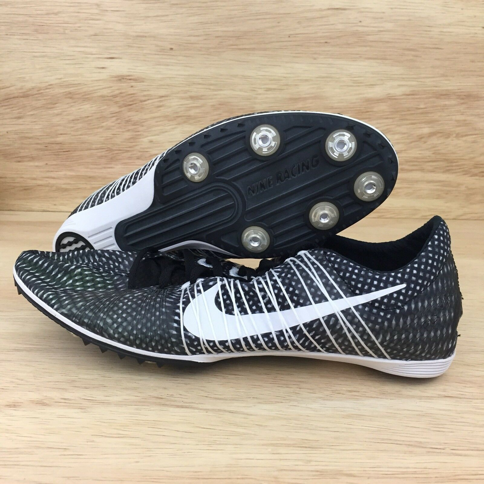 6be99288e5f0 Nike Zoom Victory 2 Track       Field Spikes Shoes Size 13 White Black  555365-001 02f691