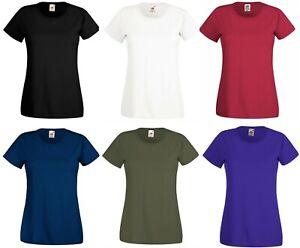 Womens-Ladies-T-shirt-Soft-Style-Plain-Crew-Neck-T-Shirt-Cotton-Tee-Cotton-Top