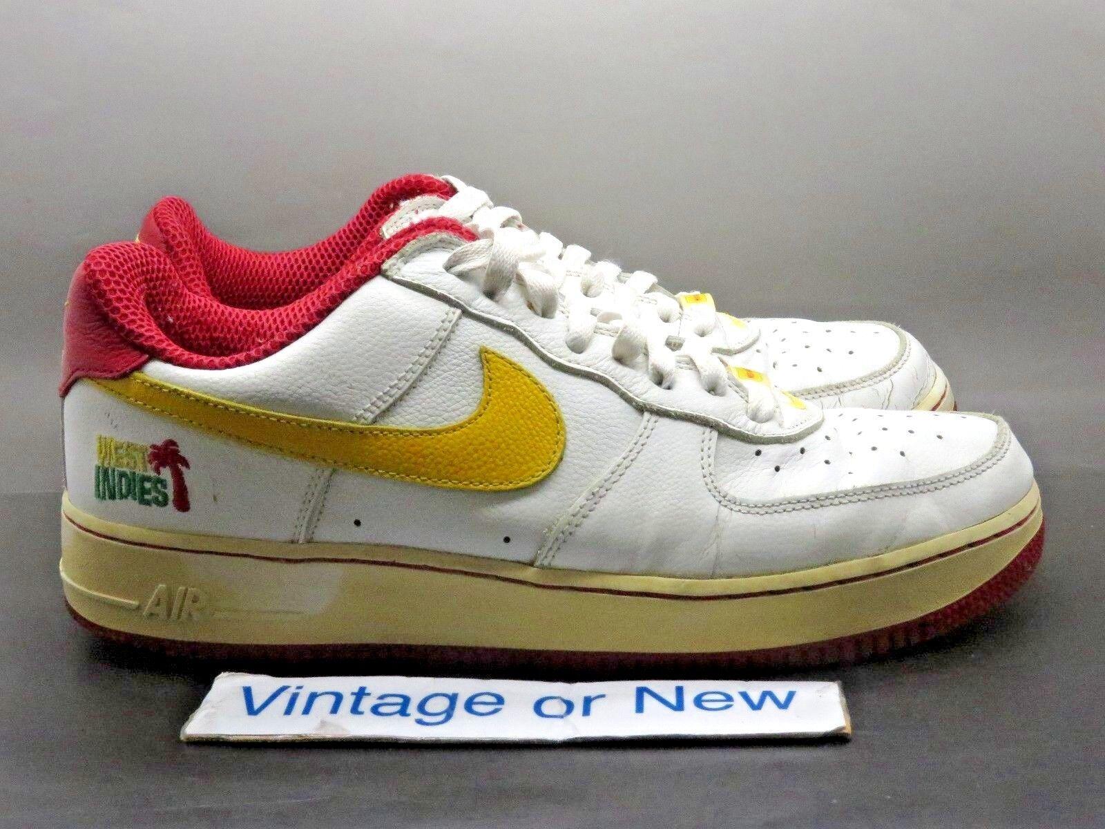VTG Nike Air Force 1 Low West Indies 2004 sz 10