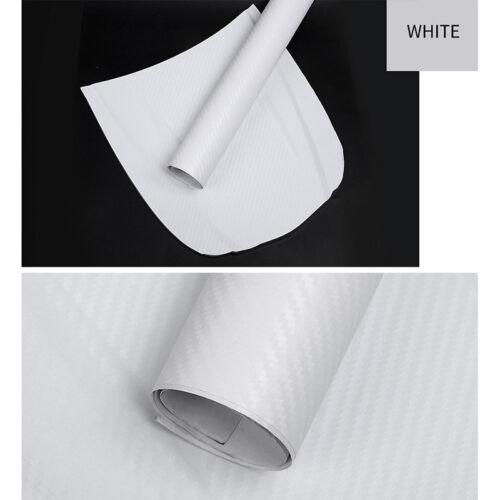 3D Carbon Fiber Vinyl Car Wrap Sheet Roll Film Sticker Decal 127x30cm—HQ