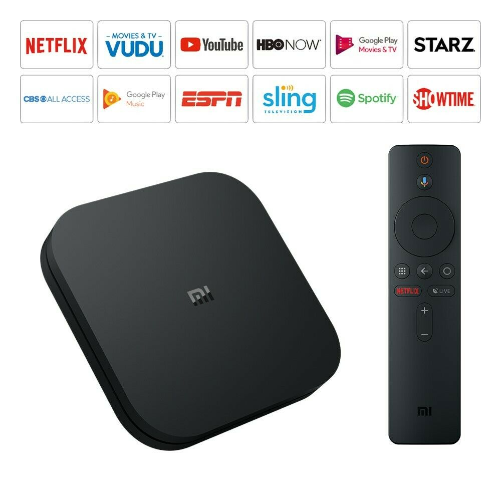 Xiaomi Mi Box S 4K HDR Android TV Google Assistant Remote Streaming Media Player