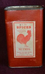 Early-Minneapolis-St-Paul-Minnesota-Rooster-Chicken-Pride-of-Home-Spice-Tin