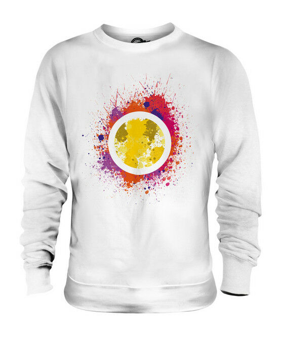 FLOWER SPLATTER UNISEX SWEATER  TOP GIFT WATERCOLOUR PAINT