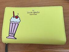 Kate Spade X Archie Comics Medium Bifold Wallet Wkru6187 Yellow Multi