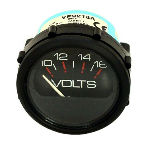Faria Vp9213A Black 2 Inch Marine Boat Voltage Gauge