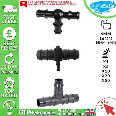 Autopot Tee Connettore: 6mm/16mm/16mm-6mm - Qtà: 1/5/10/20/50 - Gtp Idroponica-6mm - Qty: 1/5/10/20/50 - Gtp Hydroponics It-it