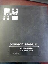 Hyster Service Electric E20b E25b E30bs