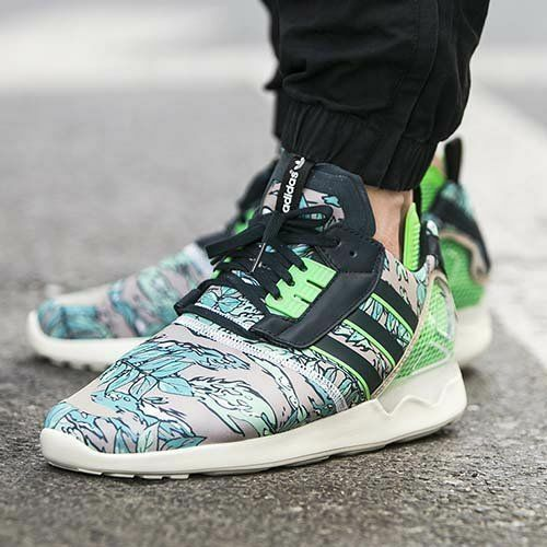 ADIDAS ZX 8000 Boost Floral Petrol Ink Flash Grün herren Trainers Größe UK 7.5